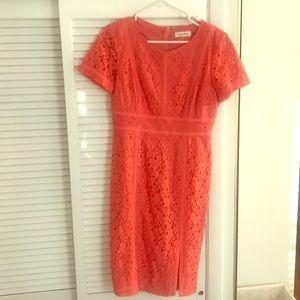 Coral Summer Work Dress